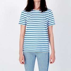 NWT T BY ALEXANDER WANG White Blue Stripe Linen